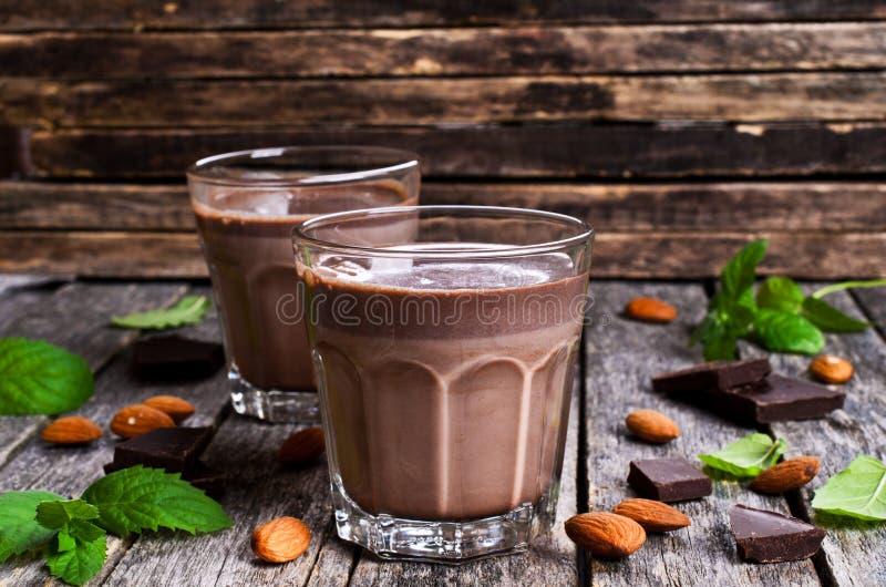 Chocolademelk stock afbeelding