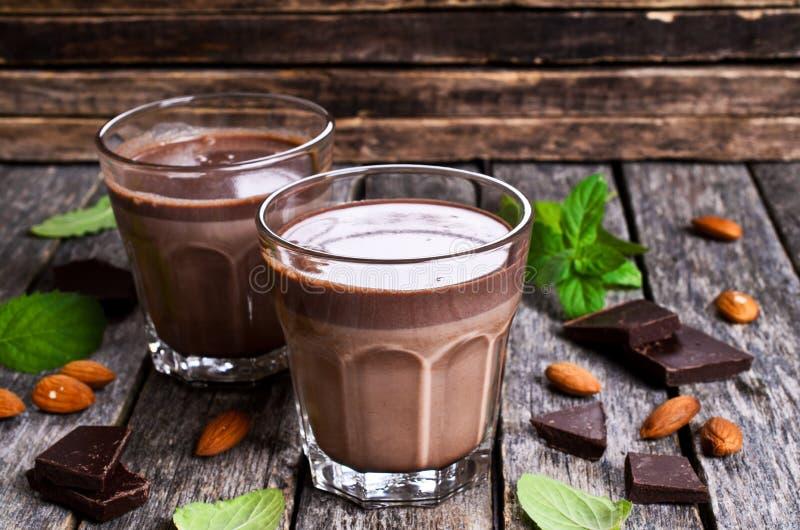 Chocolademelk stock foto's
