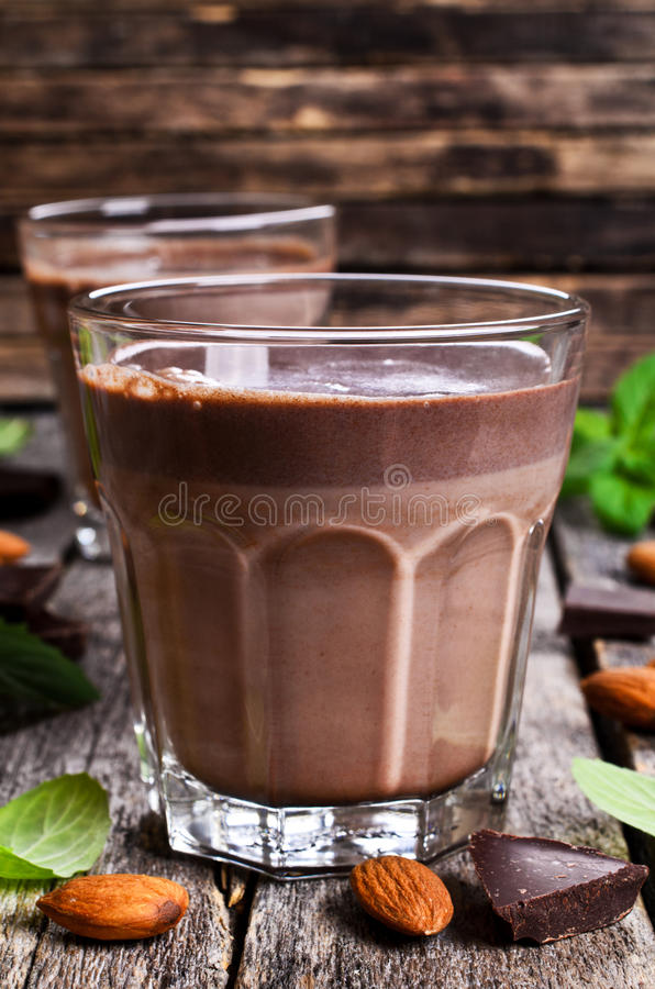Chocolademelk royalty-vrije stock foto
