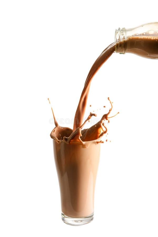 Chocolademelk royalty-vrije stock afbeeldingen