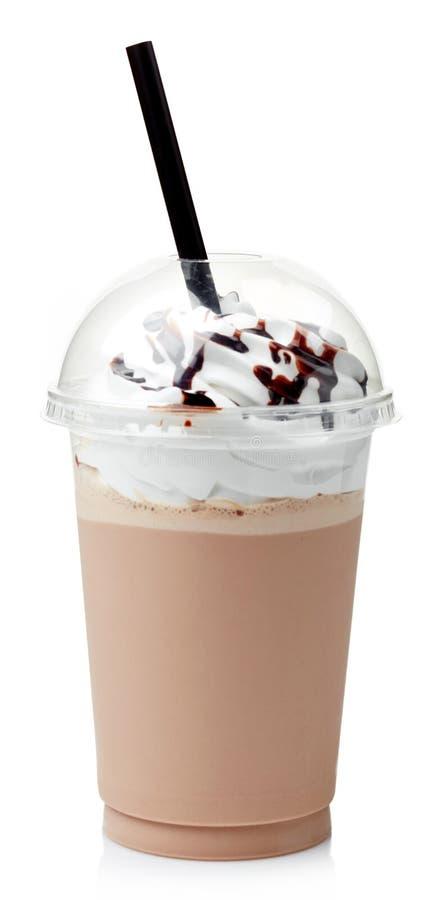 Chocolademilkshake stock afbeeldingen