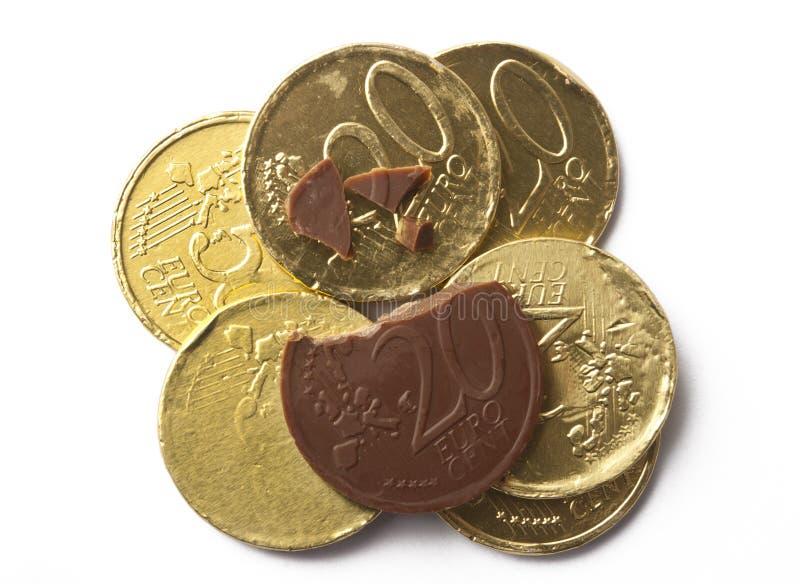 Chocolademuntstukken royalty-vrije stock fotografie