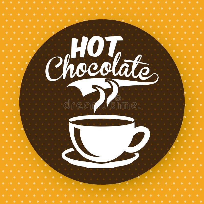 Chocoladeontwerp stock illustratie