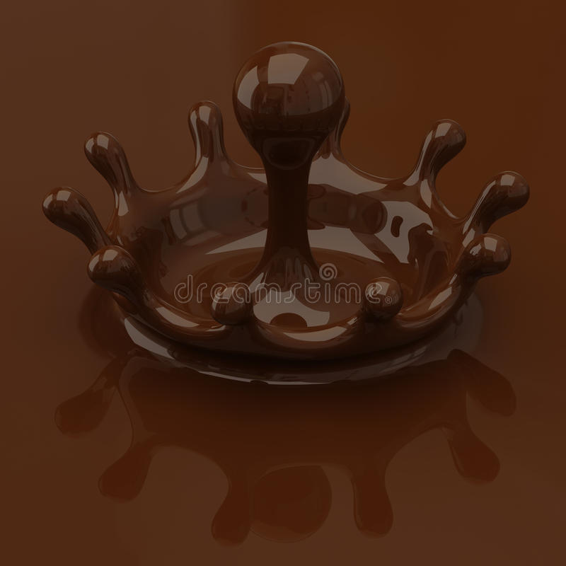 Chocoladeplons stock illustratie