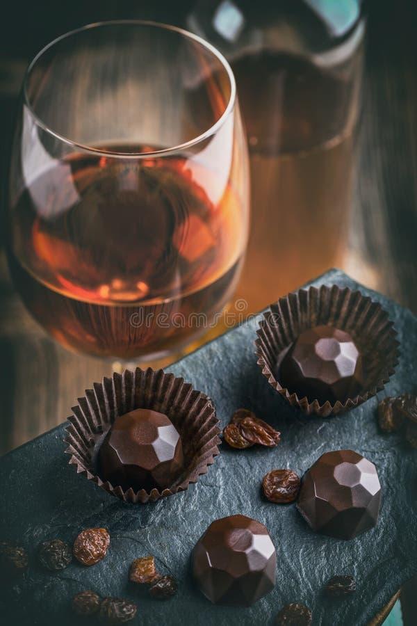 Chocoladepraline royalty-vrije stock foto's