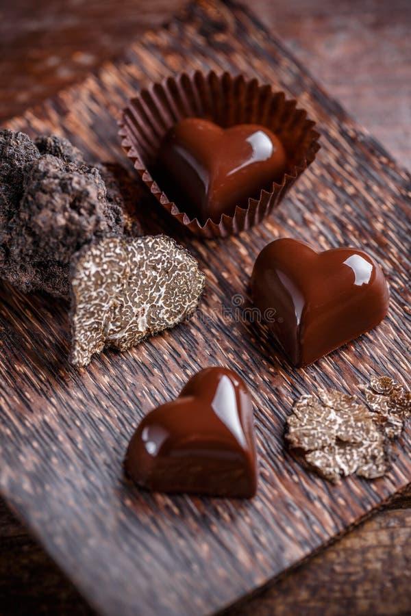 Chocoladepraline royalty-vrije stock fotografie