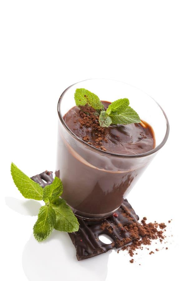 Chocoladepudding stock afbeeldingen