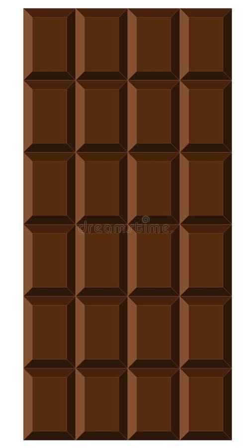 Chocoladereep op de witte achtergrond wordt ge?soleerd die royalty-vrije illustratie