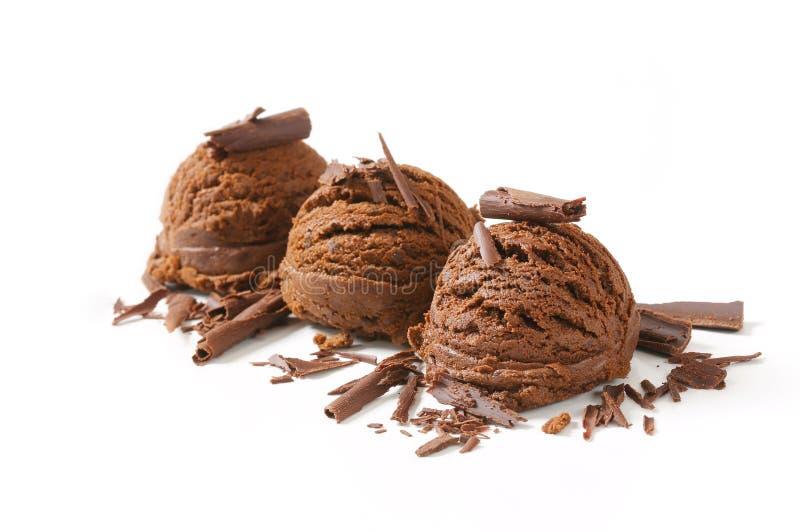 Chocoladeroomijs stock foto's