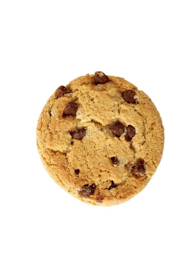 Chocoladeschilfer koekje-van bovenkant (inbegrepen weg) royalty-vrije stock fotografie