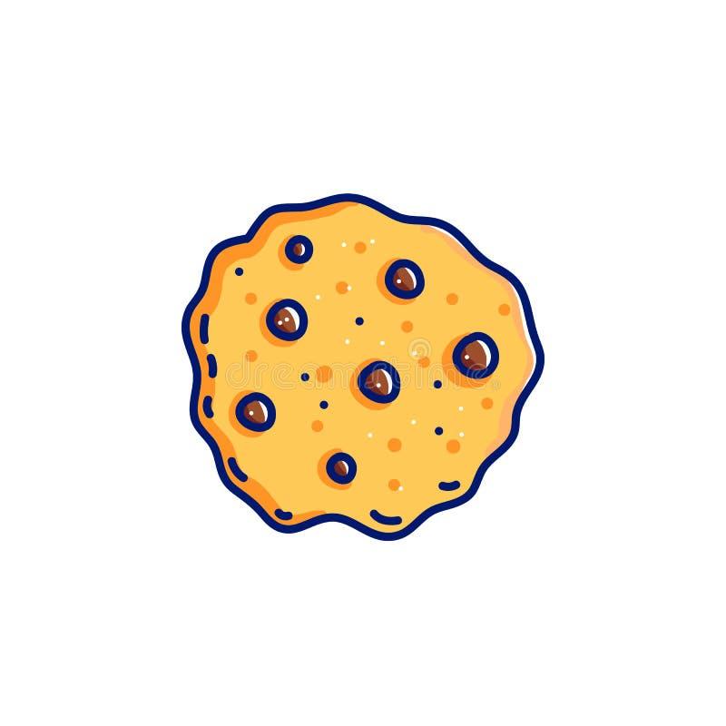 Chocoladeschilfer met koekje royalty-vrije illustratie