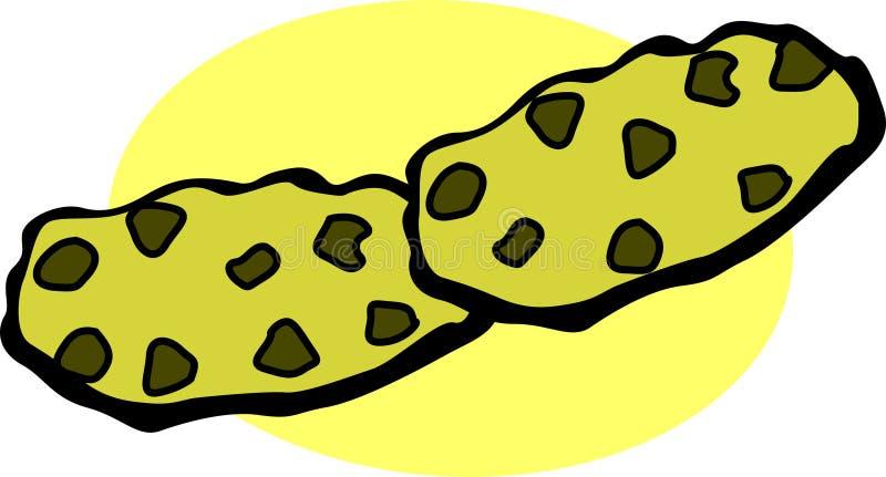 Chocoladeschilferskoekjes vector illustratie