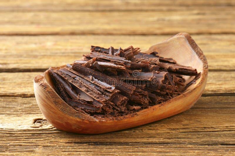 Chocoladespaanders stock fotografie