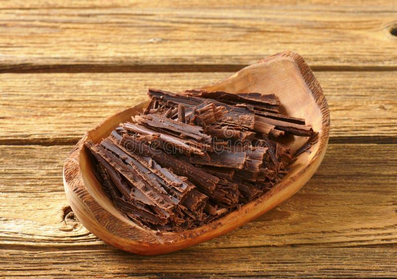 Chocoladespaanders stock afbeelding
