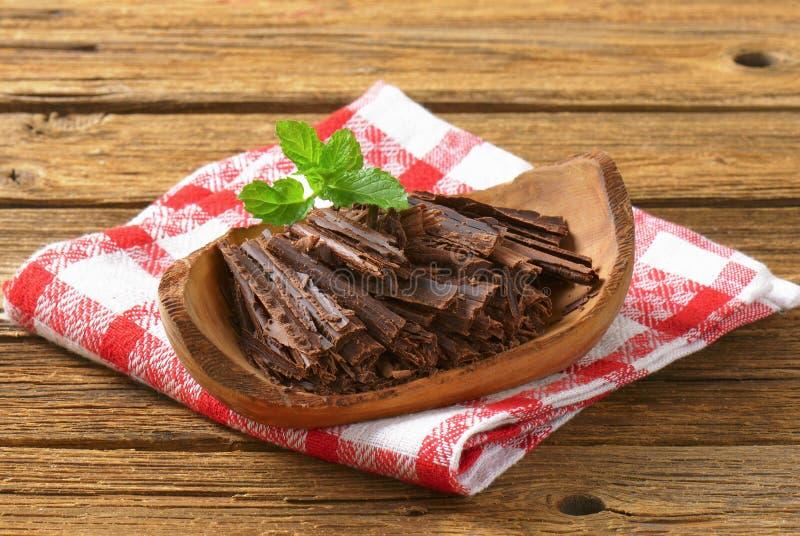 Chocoladespaanders stock foto's
