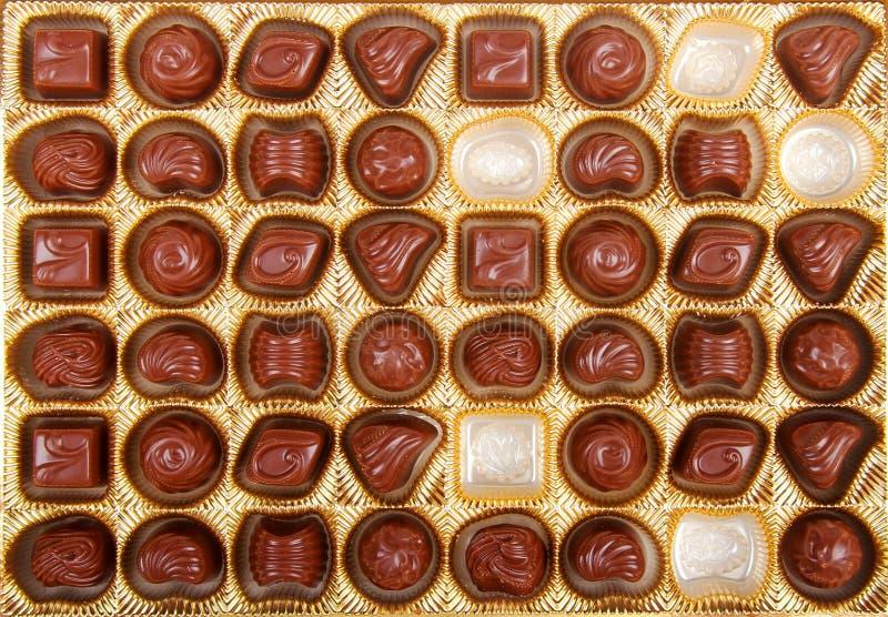 Chocoladesuikergoed in de doos royalty-vrije stock foto's