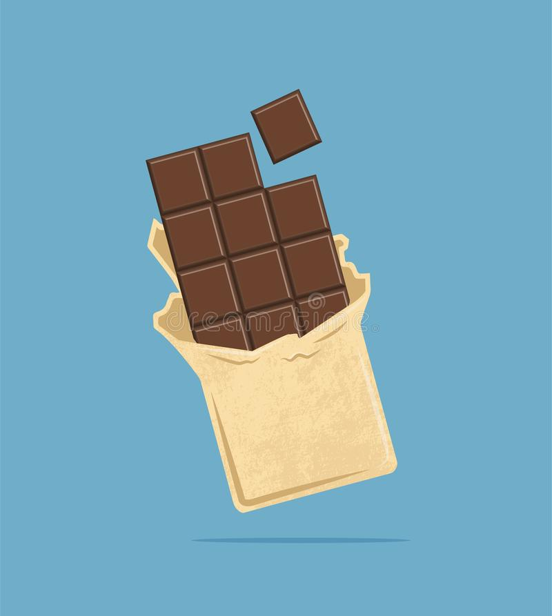 Chocoladetegel Vector illustratie royalty-vrije stock foto
