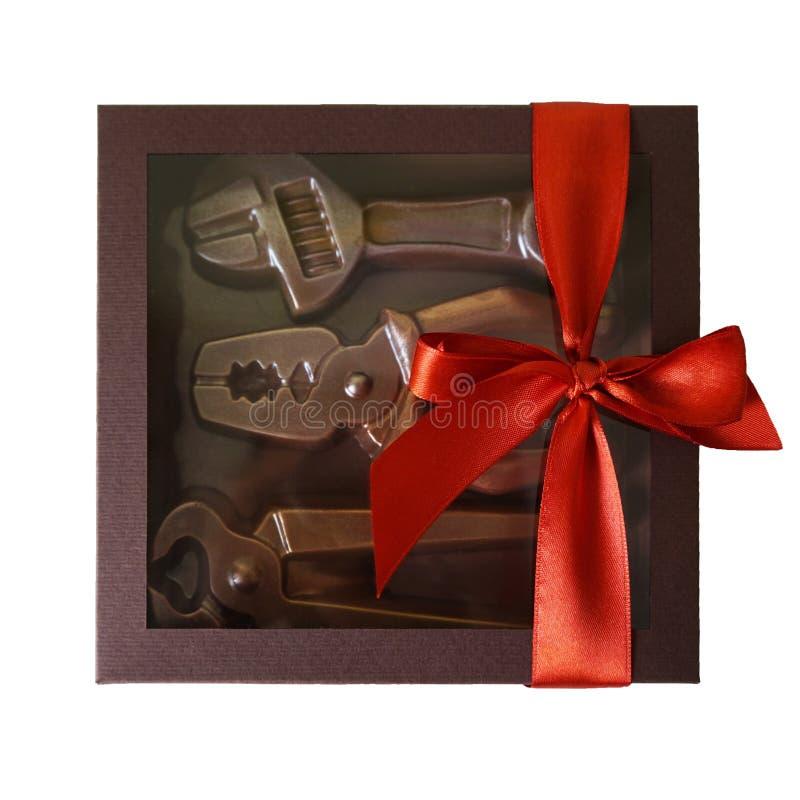 Chocoladetoolset stock afbeeldingen