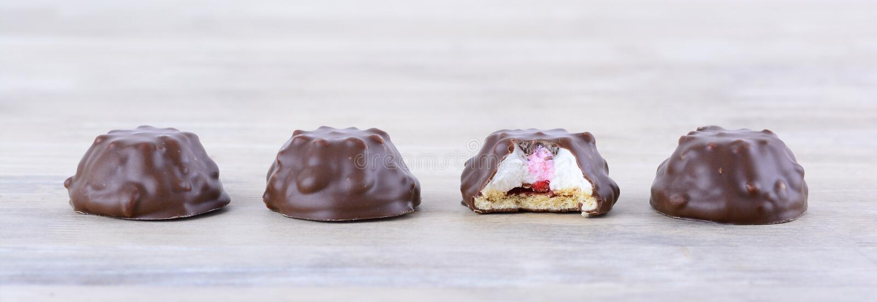 Chocoladeverrukkingen stock foto's