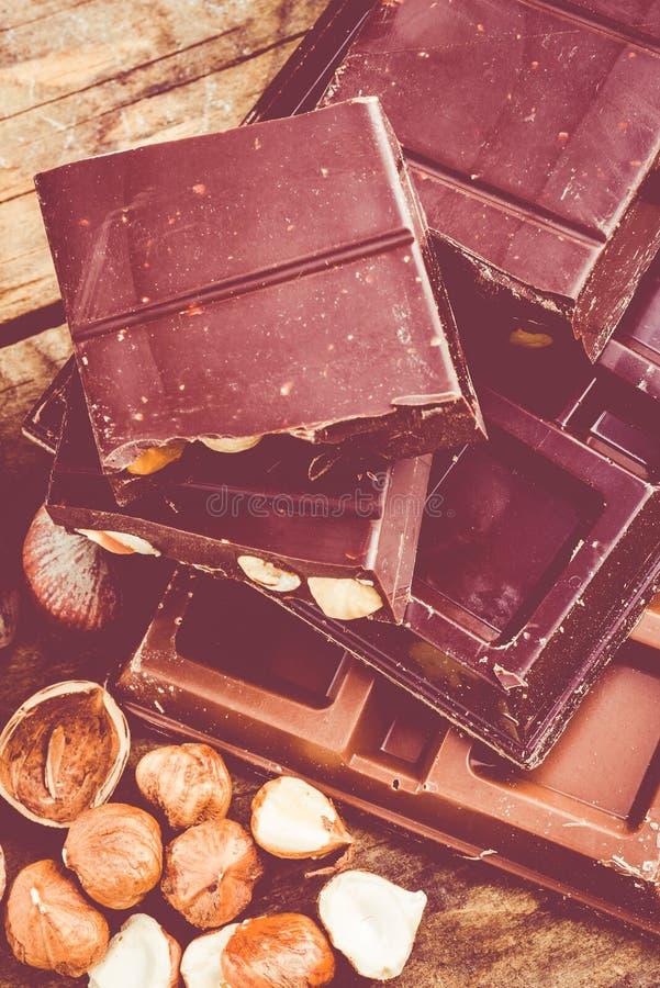 Download Chocolat photo stock. Image du noisettes, ingrédient - 45368892