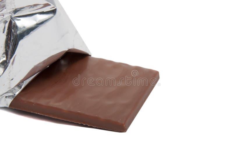 Chocolat au lait avec le remplissage de menthe d'isolement image libre de droits