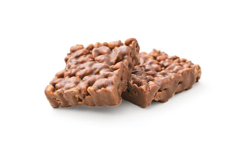 Chocolat avec du riz photographie stock libre de droits