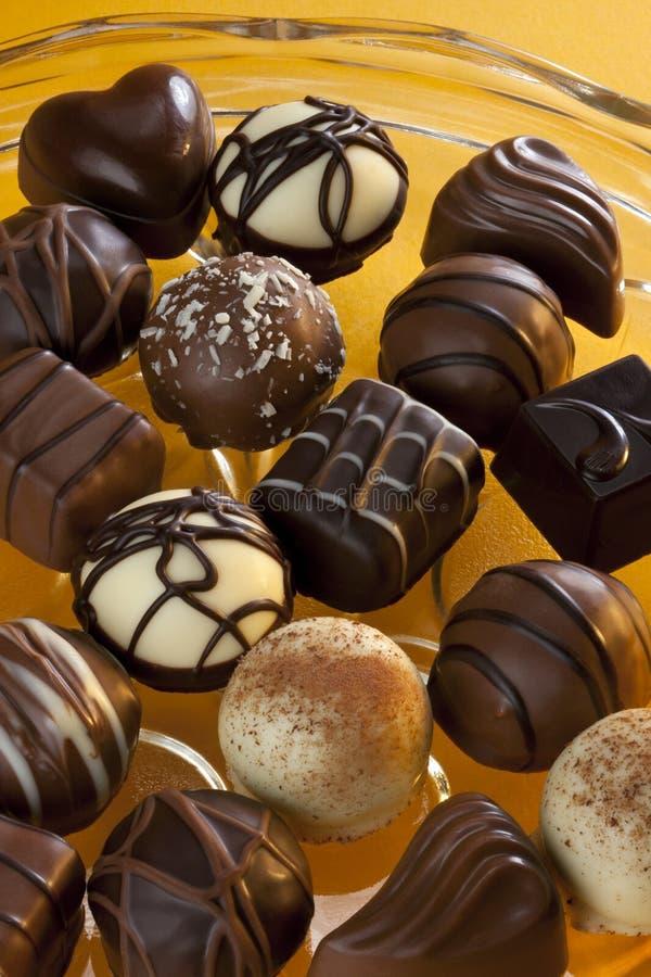 Chocolat - biscuits de luxe - confiserie image libre de droits