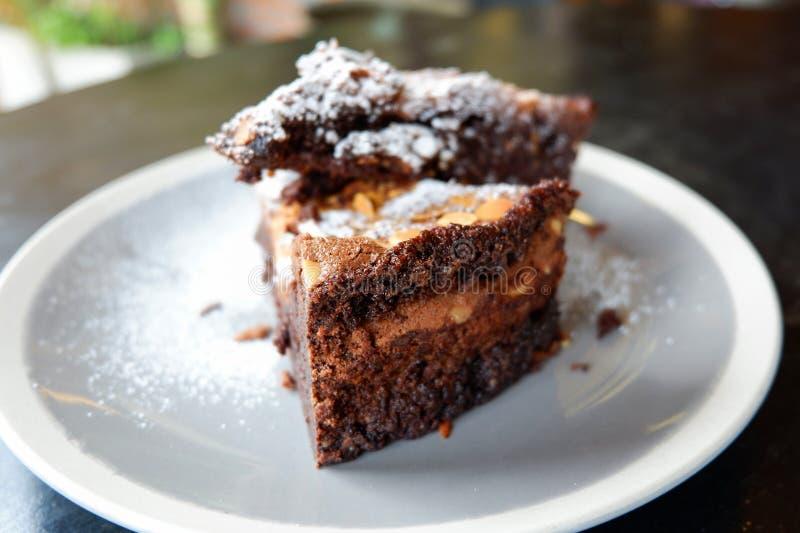 Chocolat Brownie Cake photos stock