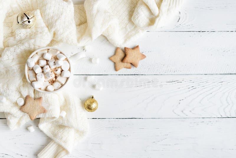 Chocolat chaud de Noël images libres de droits