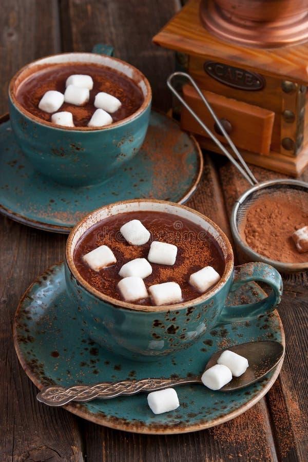 Chocolat chaud fait maison avec la guimauve images libres de droits