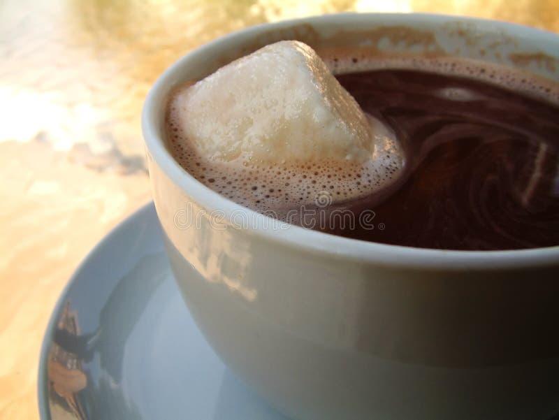 Chocolat chaud, guimauve supplémentaire photographie stock