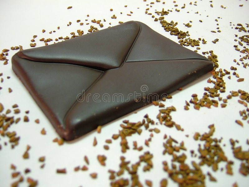 Chocolat - courrier image stock