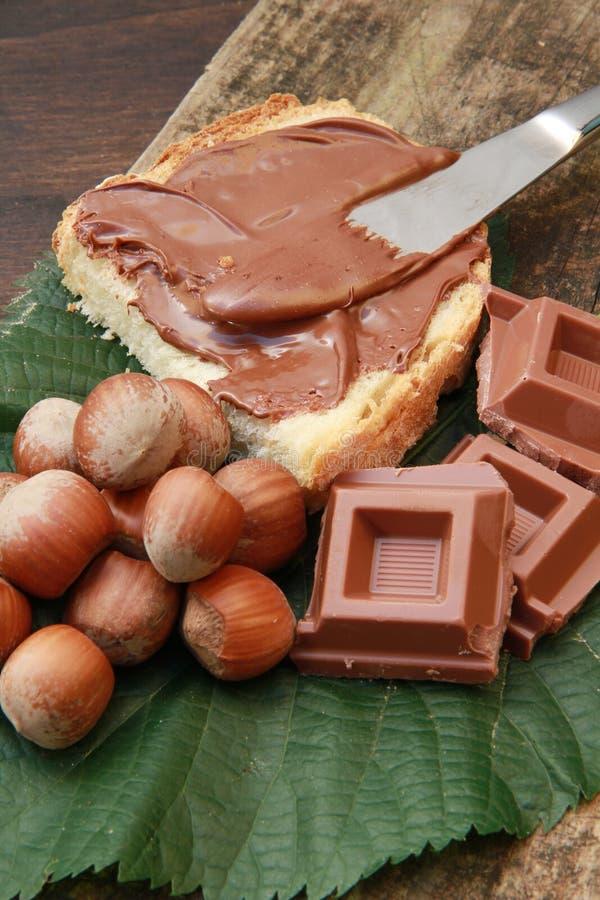 Chocolat cream stock photos