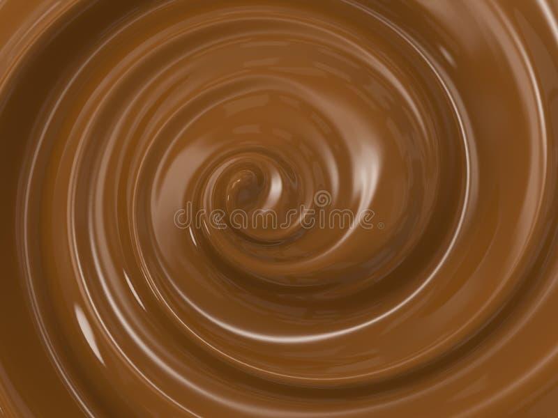 Chocolat de fonte de remous photographie stock