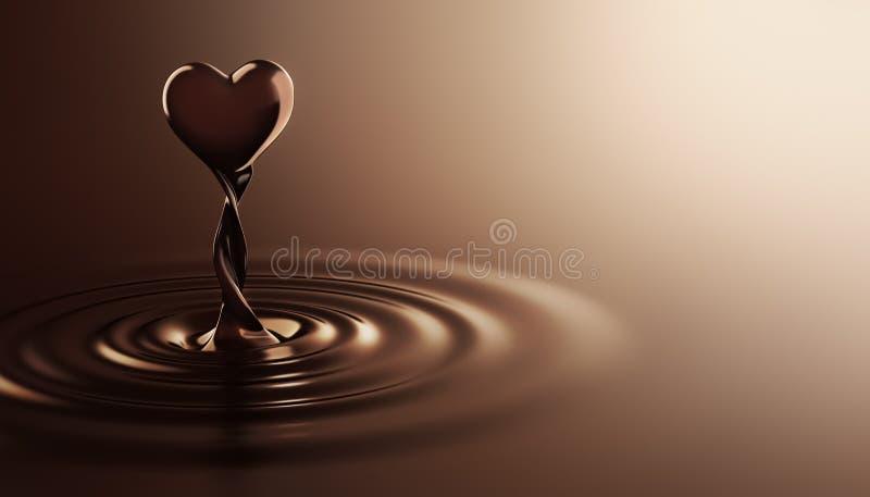Chocolat de forme de coeur illustration stock