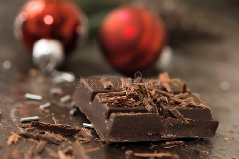 Chocolat de Noël image stock