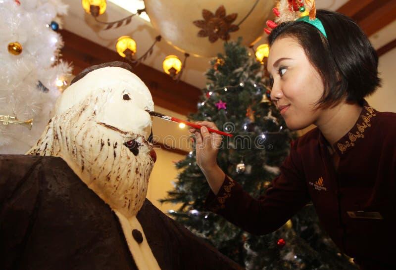 Chocolat de Santa de géant images libres de droits