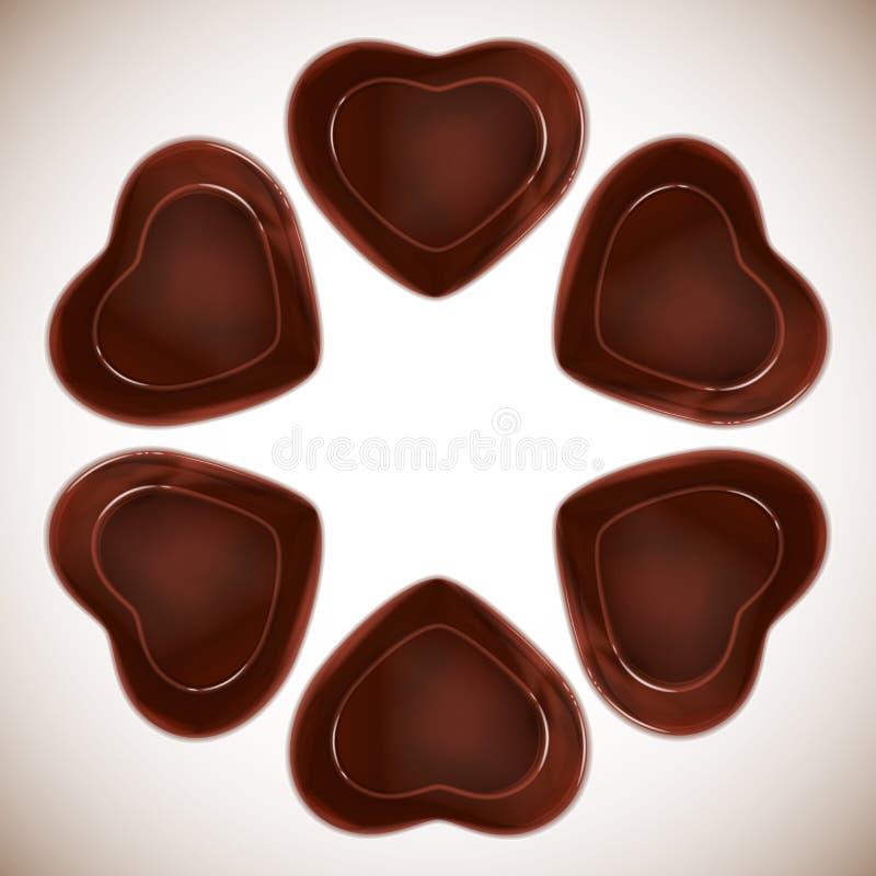 chocolat de sucrerie en forme de coeur illustration stock