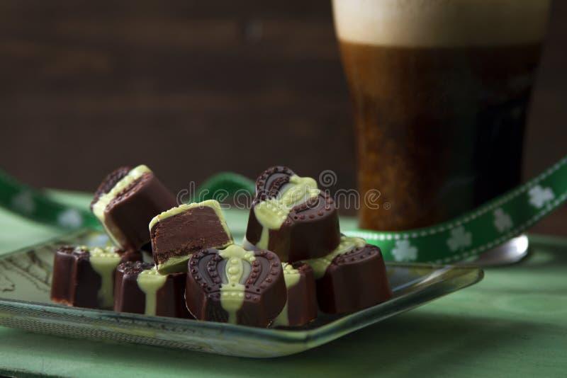 Chocolat du jour de St Patrick photos libres de droits