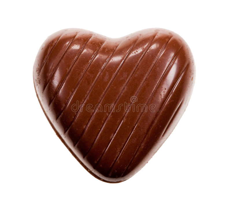 Download Chocolat en forme de coeur photo stock. Image du brun - 8662038