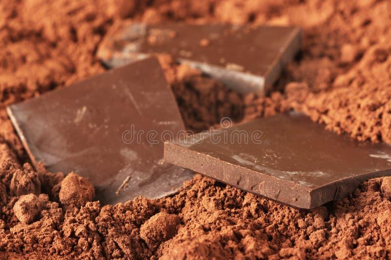 Chocolat et cacao image libre de droits
