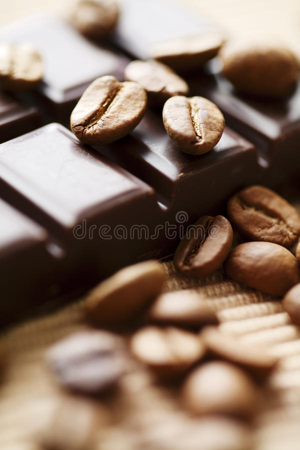 Chocolat et café photo stock