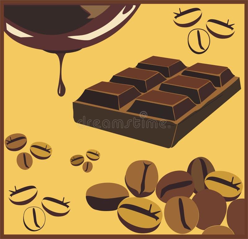 Chocolat et café photos stock