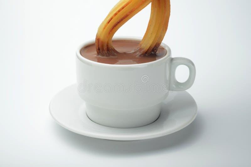 Chocolat et churro photo libre de droits
