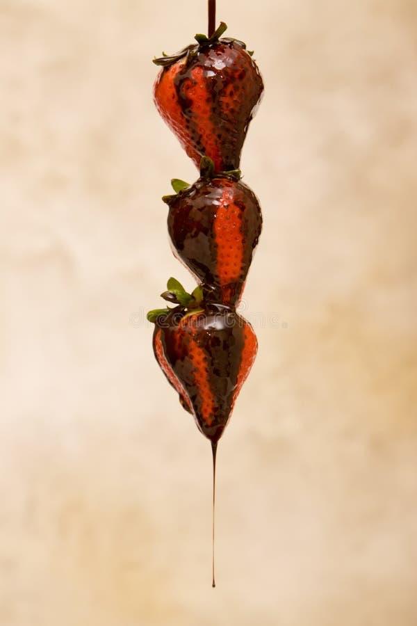 Chocolat et fraise images stock