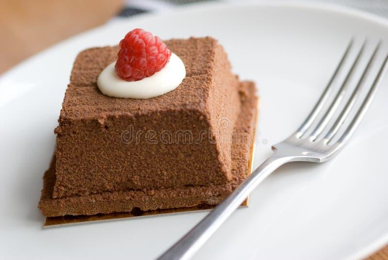 Chocolat et gâteau d'amaretto photographie stock libre de droits