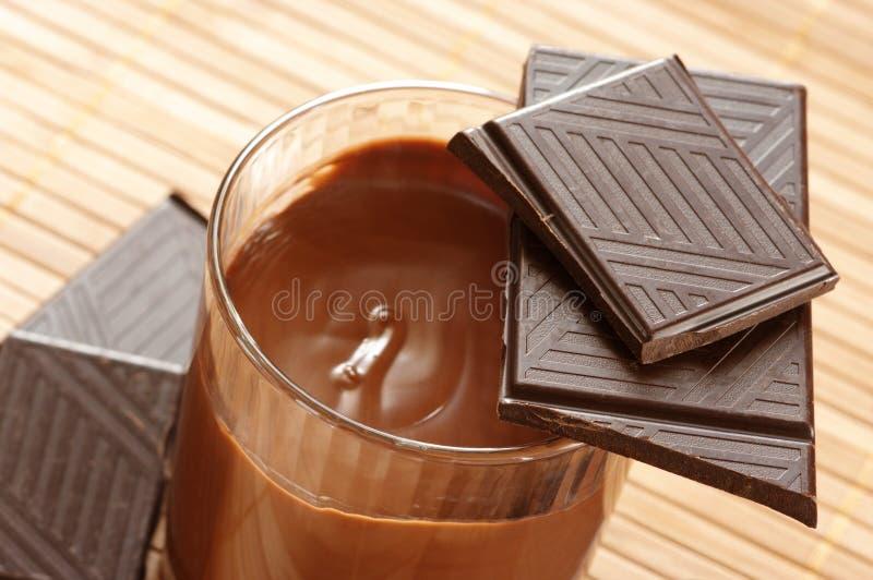 Chocolat et mousse photographie stock