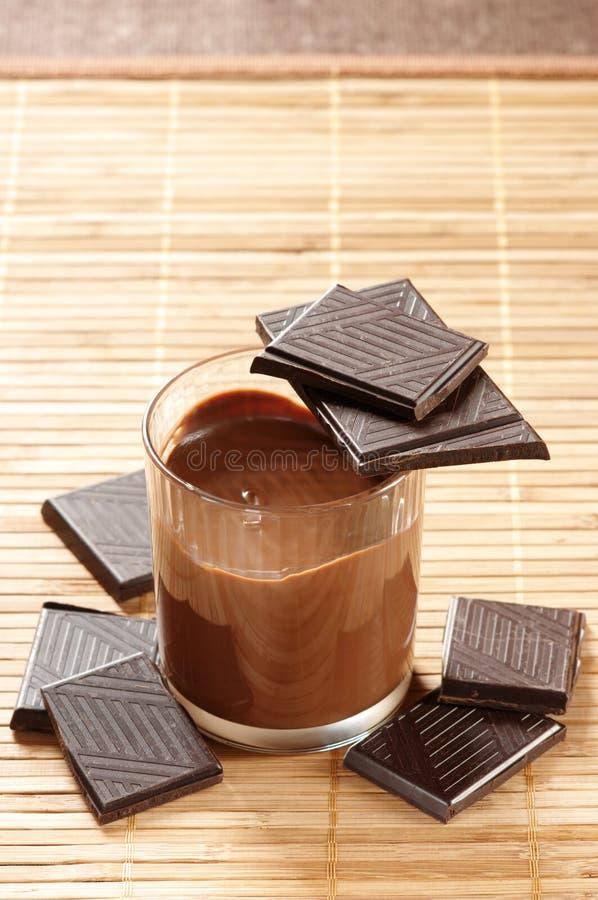 Chocolat et mousse photographie stock libre de droits