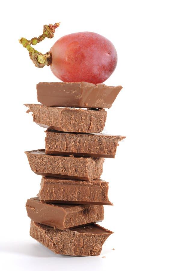 Chocolat et raisin photo libre de droits