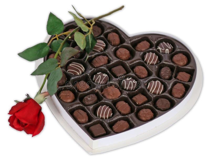 Chocolat et Rose photo libre de droits